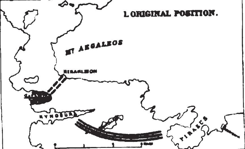 The Battle of Salamis: The fleets' original positions