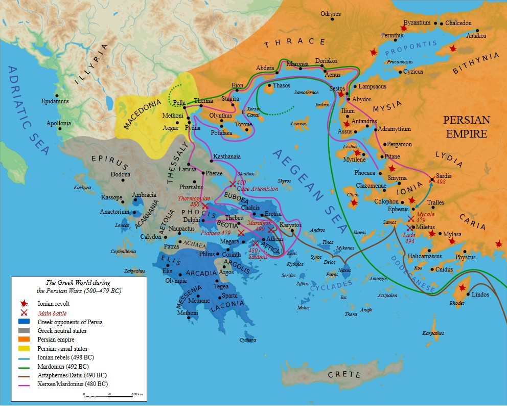 Greece at the time of the Greco-Persian War