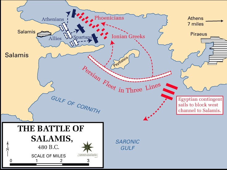 The Battle of Salamis: A modern map