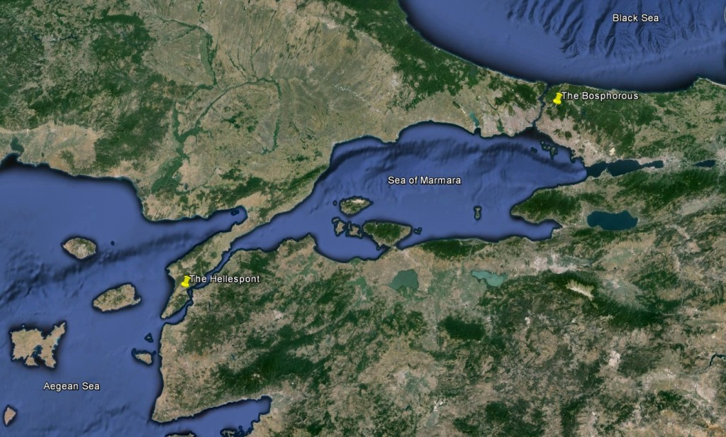 The Hellespont and the Bosphorous
