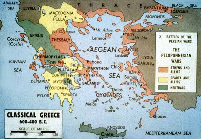 The Athenian Empire at the time of the Persian and Peloponnesian Wars
