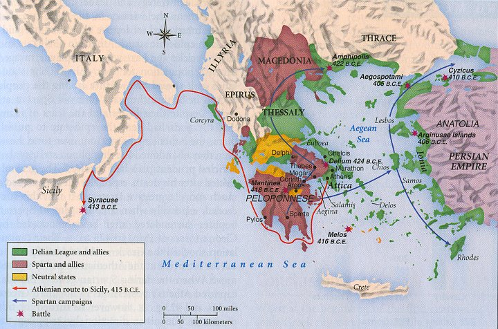 The Athenian Empire and the Peloponnesian League