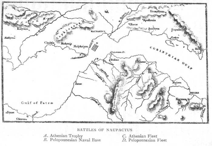 Fleet dispositions during the Battle of Naupactus